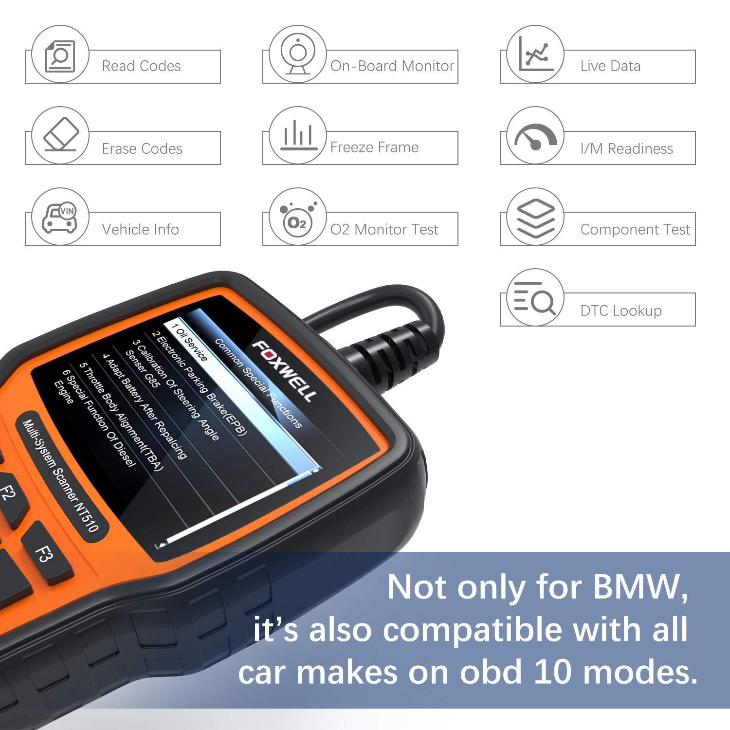 Features Foxwell NT510  obd2 scanner