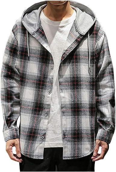 Overdose Blusa Superior De Otoño para Hombre Camisa Casual De Manga Larga con Estampado De Cuadros Escoceses Sudadera Hombre Basquetbol Gym Sudadera Hombre Oferta Adolescentes: Amazon.es: Ropa y accesorios