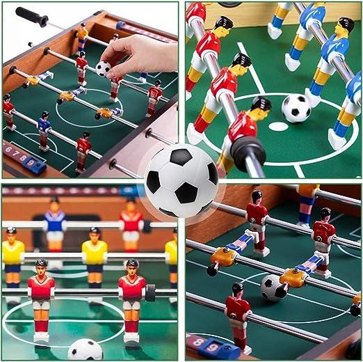 ZAWTR Pelotas Futbolin 6 Pcs, Profesional Mini Pelotas de Futbolin de Mesa 32mm, ABS plástico Pelota pequeña de fútbol de Tabla para Niños Adultos Actividades Deportivas Suministros (Negro & Blanca): Amazon.es: Deportes