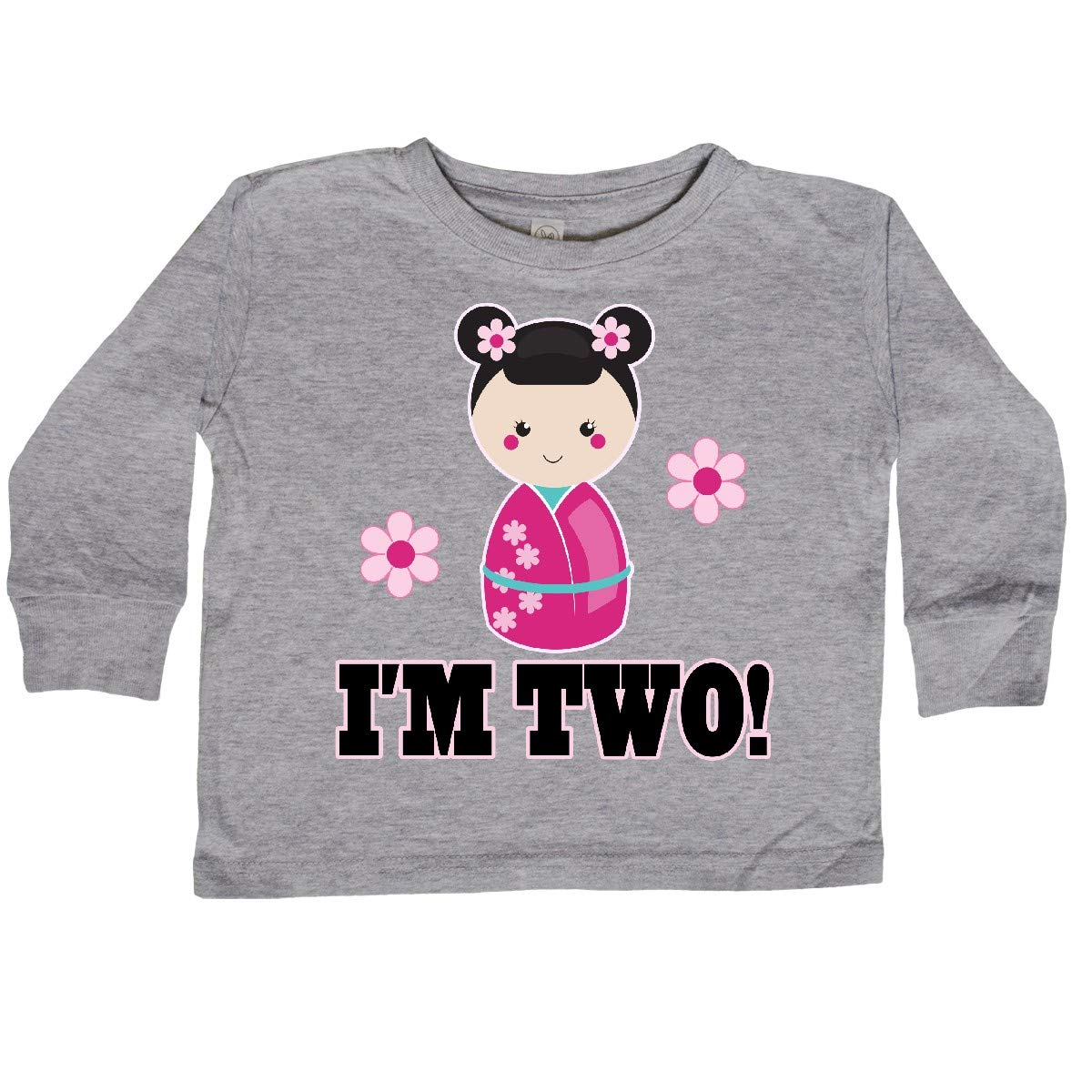 inktastic 2nd Birthday Kokeshi Doll Girls Toddler Long Sleeve T-Shirt