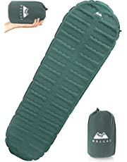 WellaX Ultralight Self Inflating Sleeping Pad for Camping - Best Inflatable Camping Mat for Backpacking, Traveling and Hiking - Hybrid Camp Mattress with Foam Frame