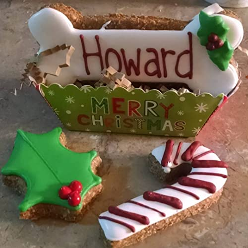 personalized christmas dog treats favor