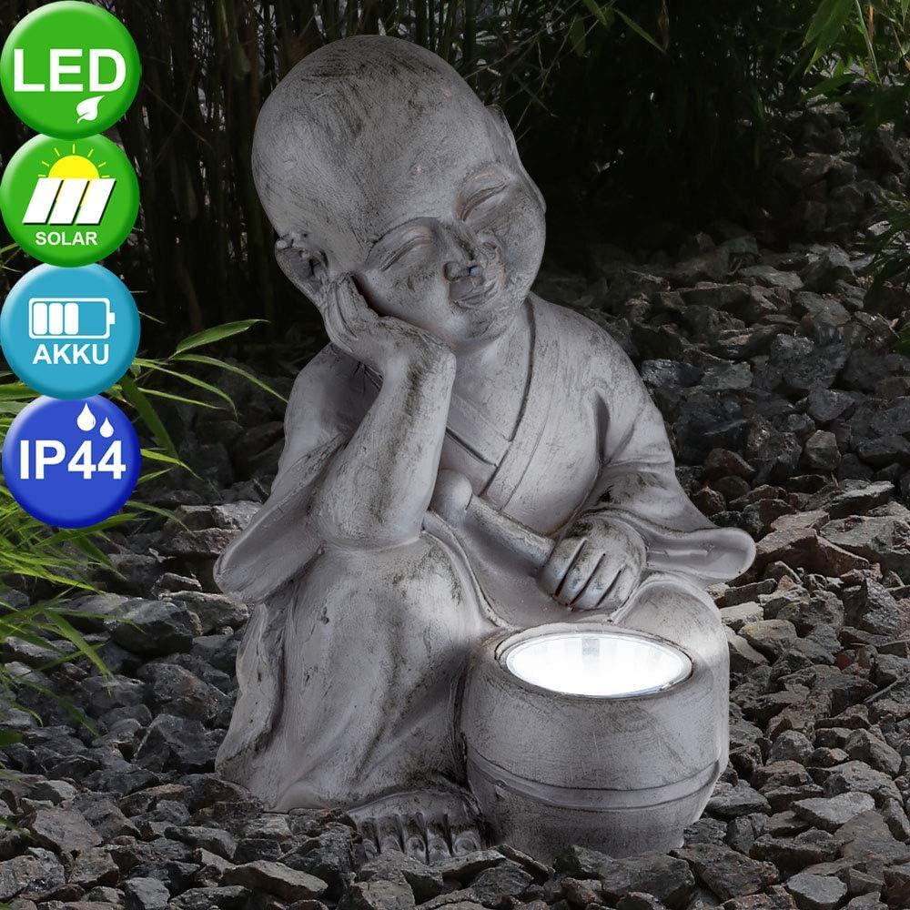 2er Set LED Garten Deko Strahler Asia Leuchten Außen Pagode Statue Hof Feng Shui