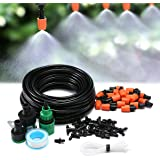 KING DO WAY Micro Flow Drip Watering Irrigation Adjustable Misting Kits System Self Plant Garden Hose Automatic Watering Kits (15m)