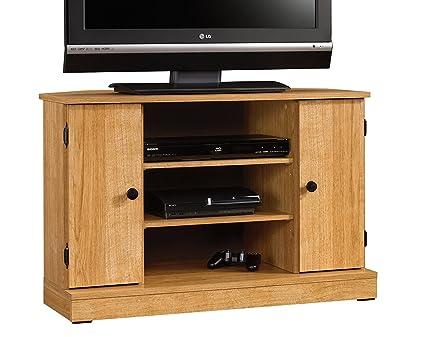 Amazon Com Sauder 412996 Beginnings Corner Tv Stand For Tv S Up To