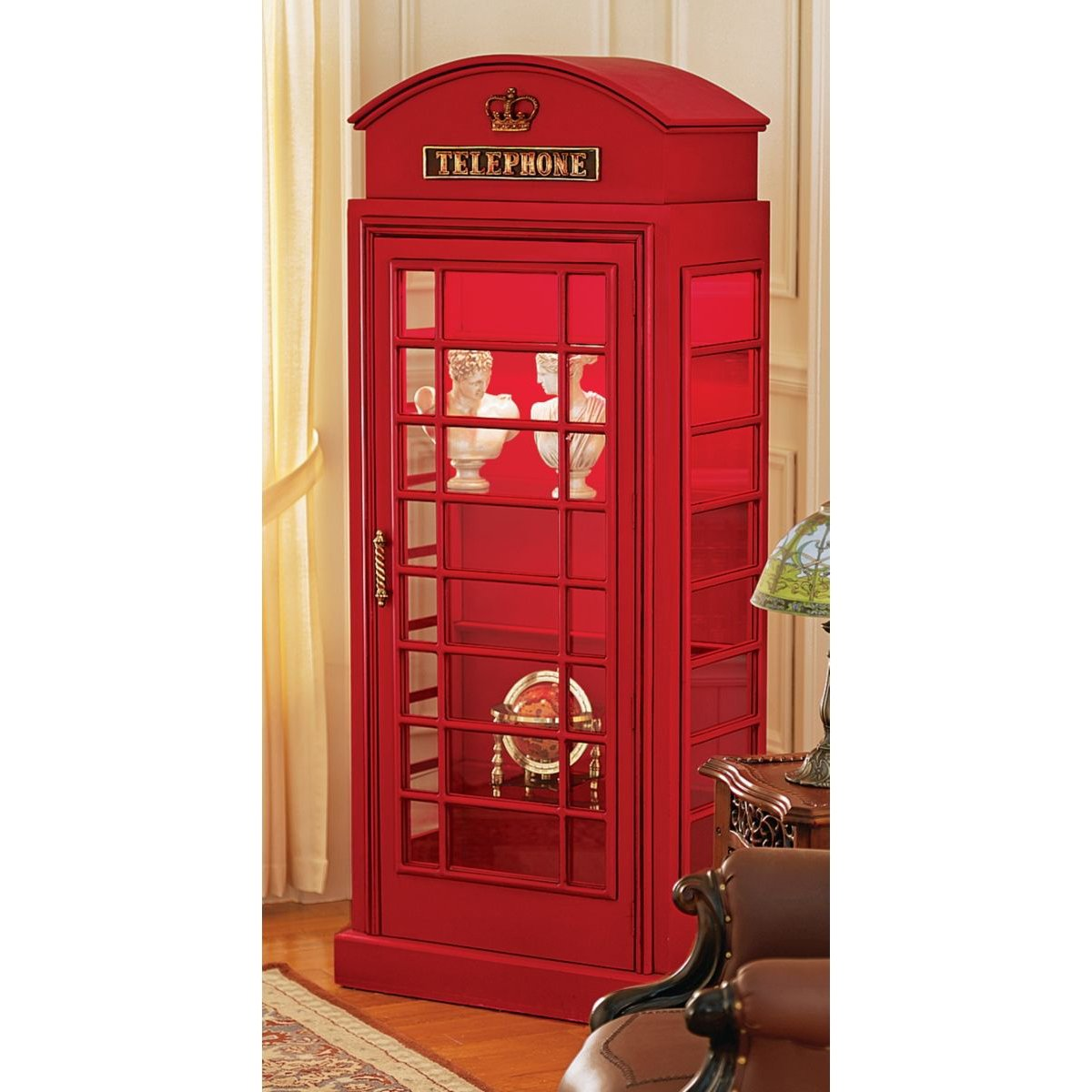 Amazon.com: Design Toscano British Telephone Booth Display Cabinet ...