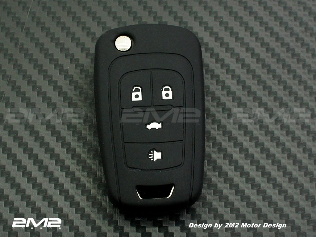 Silicon Keyfob Holder Case Chain Cover FIT For BUICK LACROSSE ENCLAVE REGAL 4 buttons 2M2 SBU01K