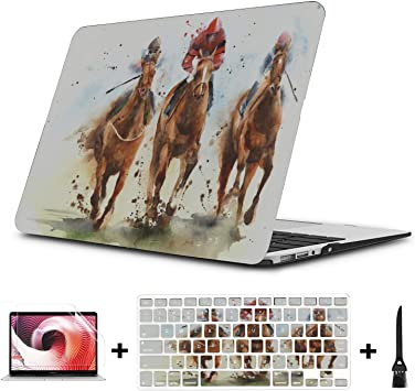 """Wild Running Horse Hard Rubberized Case Cover For MacBook Air Retina 12/"""" Pro 13/"""""""