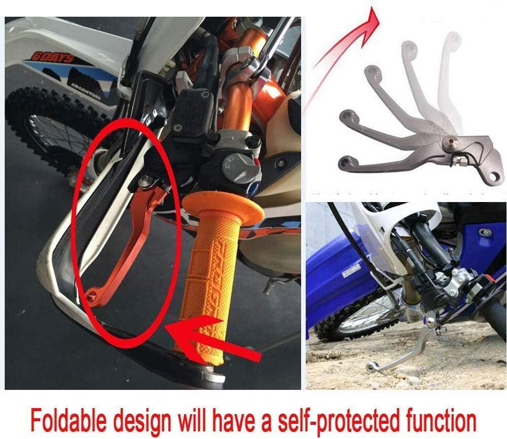 Krace CNC Motorcross Dirt Bike Pivot Brake Clutch Levers Set Fit For Yamaha YZ80//85 2001-2014 w// 7//8 22mm Rubber Hand Grips