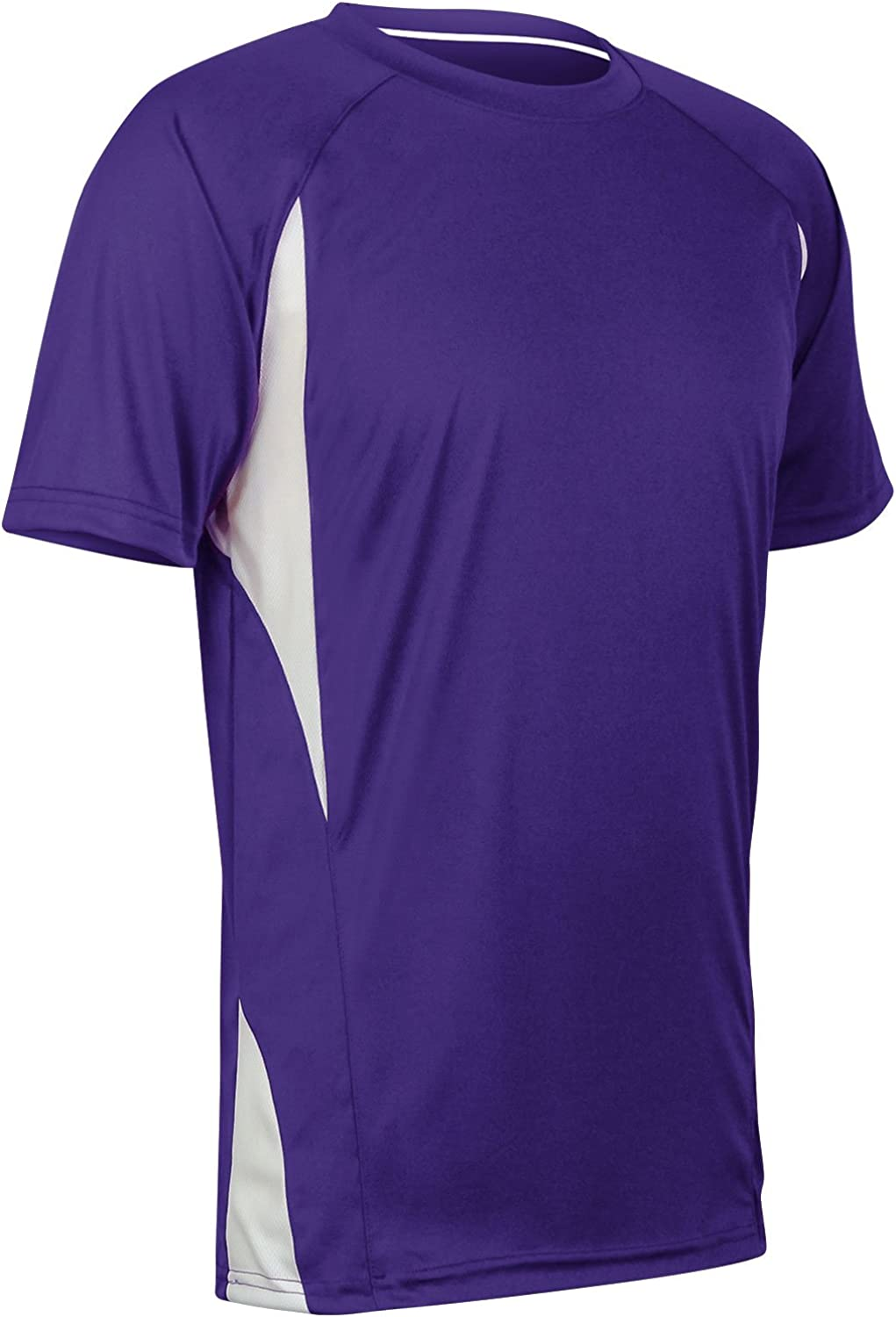 Youth Large Purple,White CHAMPRO Top Spin Lightweight Polyester Baseball Jersey
