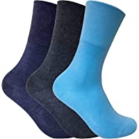 3 Pack Womens Thin Wide Loose Soft Top Warm Non Elastic Thermal Diabetic Socks
