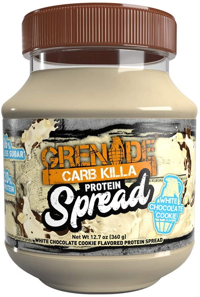 Grenade Carb Killa Protein Chocolate Spread 7g High Protein Snack High Protein Low Sugar No Stir White Chocolate Cookie, 12.7oz
