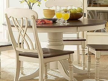 Amazon.com: Ohana Round Dining Table White: Kitchen & Dining
