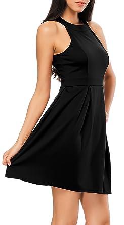 b45dea8ab2249 Bealatt Cocktail Dress, Women's Open Back Halter Neck Sleeveless Party Dress  Above Knee Length (