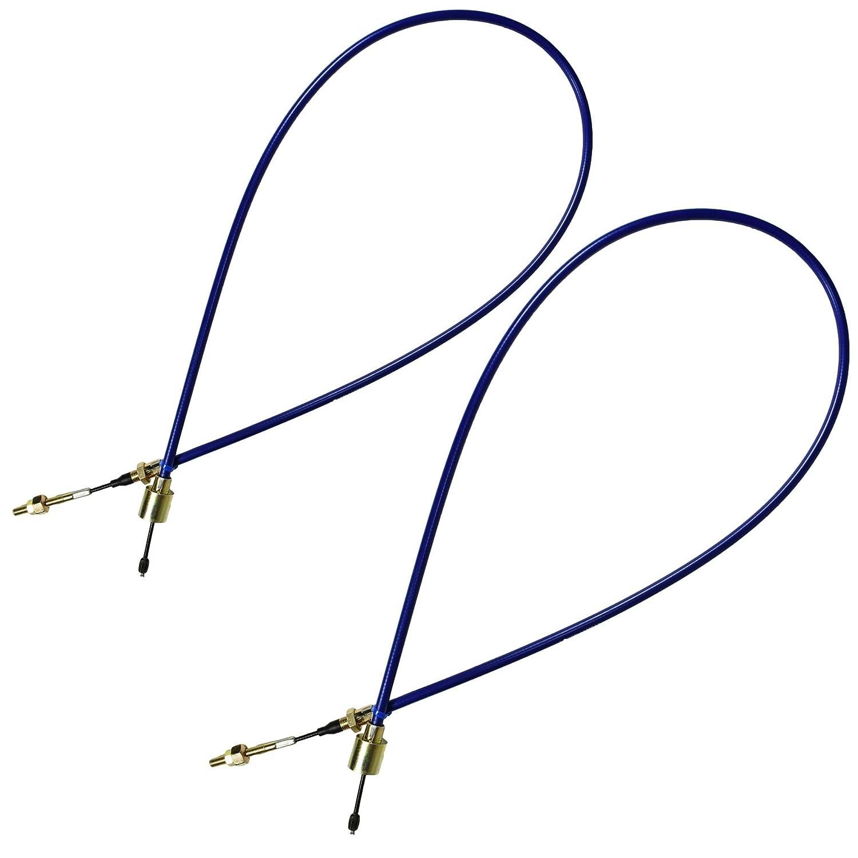 AB Tools 2 x Lunga Vita del Freno del rimorchio per Cavo Sistemi Alko Staccabile Guaina Esterna 1030mm