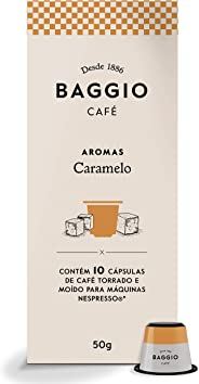 Cápsulas de Café Baggio Aroma Caramelo, Compatível com Nespresso, Contém 10 Cápsulas
