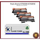 KONVER K-TN2220/K-TN2210/ K-TN2010, Pack Ahorro 3 Tóner Compatible (NON OEM) reemplaza toner Brother® TN2220/ TN2210, TN2010. Valido para la impresoraBrother DCP-7055, DCP-7055W, DCP-7057, DCP-7060D, DCP-7065DN, DCP-7070DW, HL-2130, HL-2132, HL-2135W, HL-2240, HL-2240D, HL-2250DN, HL-2270DW, MFC-7360N, MFC-7460DN, MFC-7460N, MFC-7860DW, FAX-2840, FAX-2845, FAX-2940. Enviado desde Madrid.