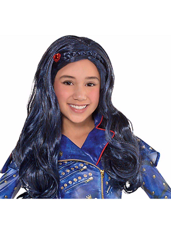 Descendants 2 Child Blue Evie Wig