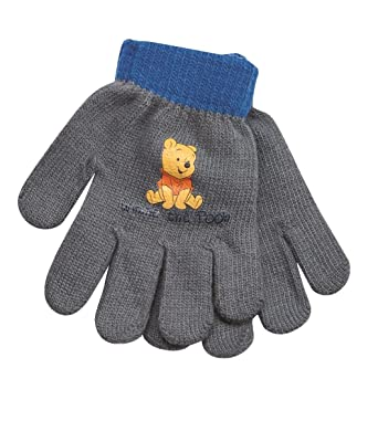 7983b282e0bc Official Licensed Winnie the Pooh Grey Childrens Mittens Gloves   Amazon.co.uk  Clothing