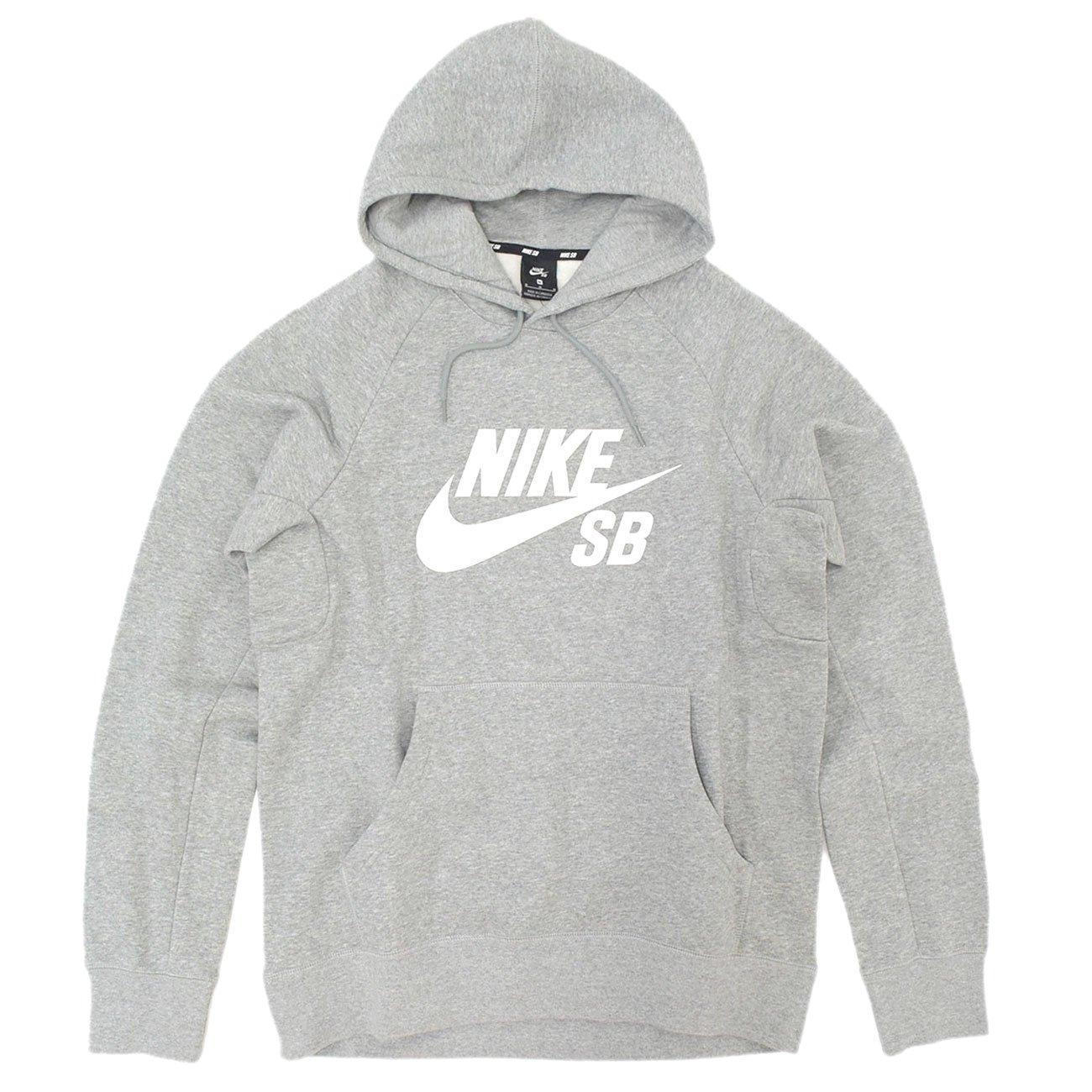 [ナイキ] NIKE プルオーバー パーカー メンズ SB USA アイコン SB [並行輸入品] B075895XPY S|グレー/ホワイト(063) グレー/ホワイト(063) S