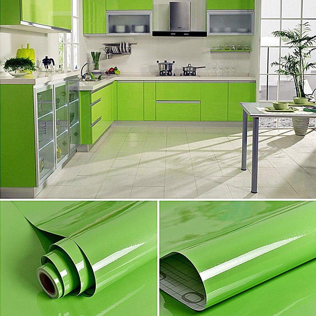 Amazon.de: KINLO 2pcs Elegant Klebefolie PVC 0.61x5M Grün ...