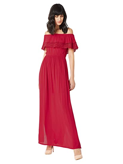 c9565cd9063 Miss Chase Women s Red Off-Shoulder Maxi Dress(MCAW17D10-33-64 ...