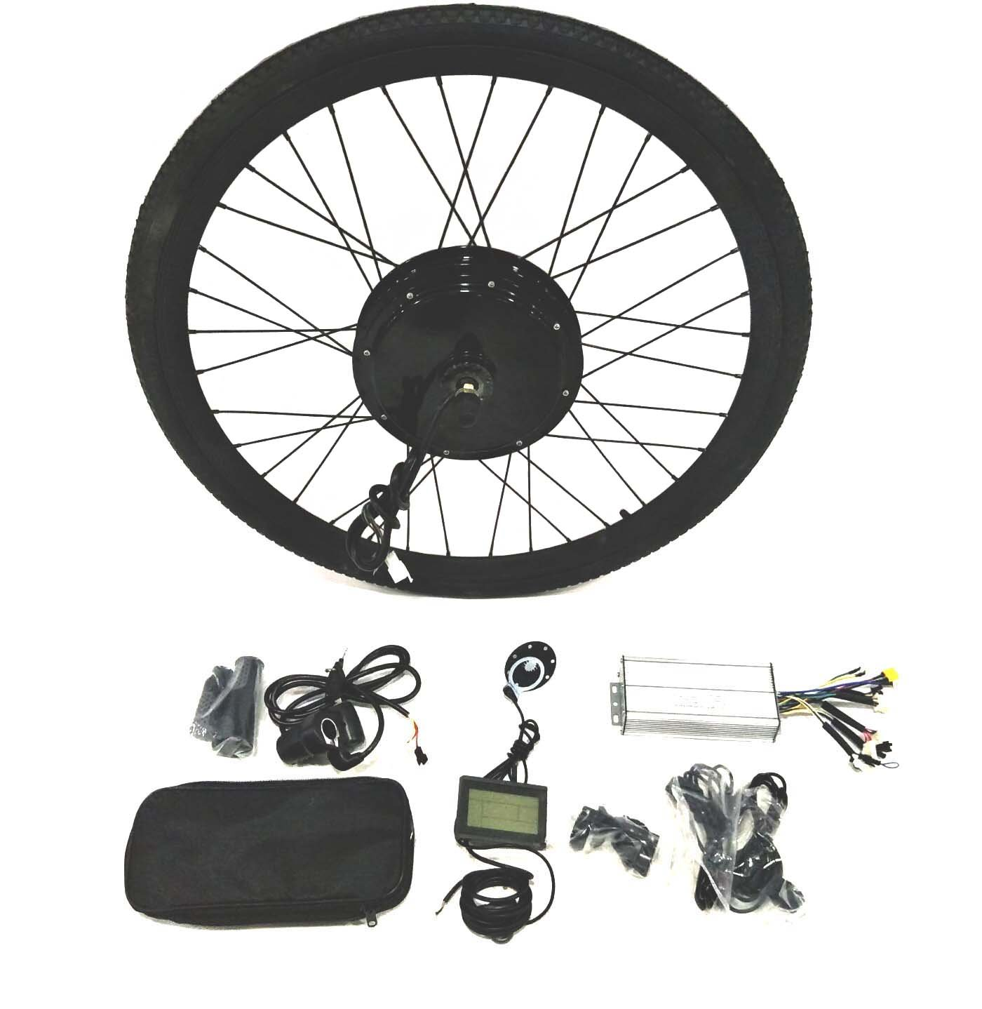 48V1500W 電動自転車変換キットギ Electric Bike Conversion Kit + LCD+ Tire Theebikemotor B01NBU1HB7 26