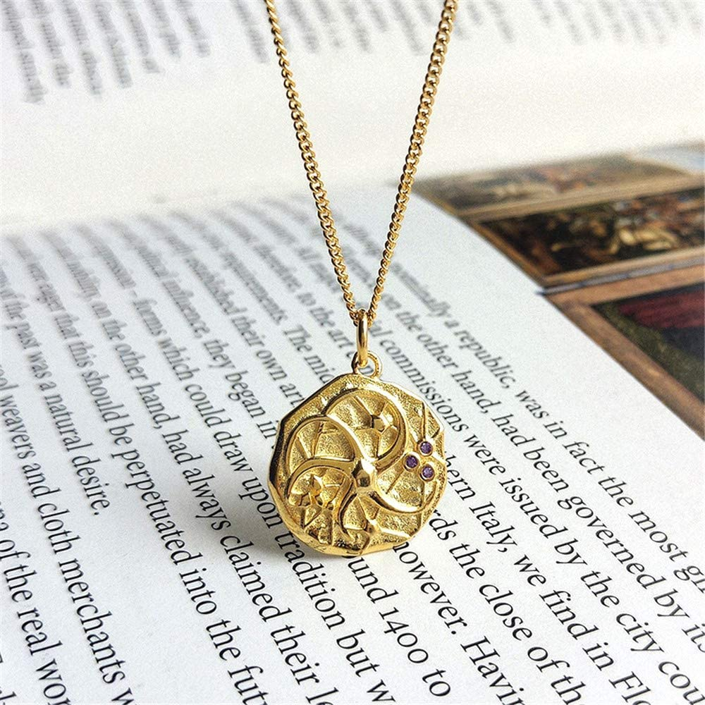 psler S925 Sterling Silver Coin Pendant Necklace Jewelry Gift for Women Girls