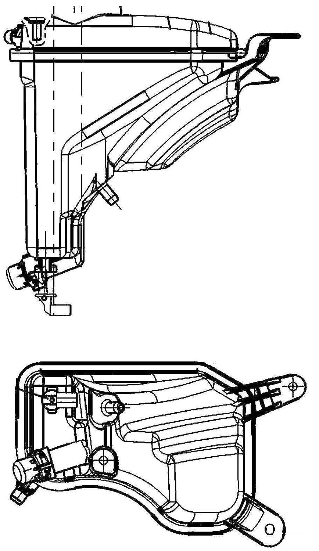 Behr Hella Service 376789751 Engine Coolant Reservoir (BMW)