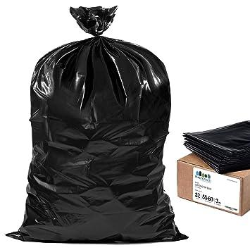 Amazon.com: Negro Contratista bolsas, 55 galones, 3 mil ...