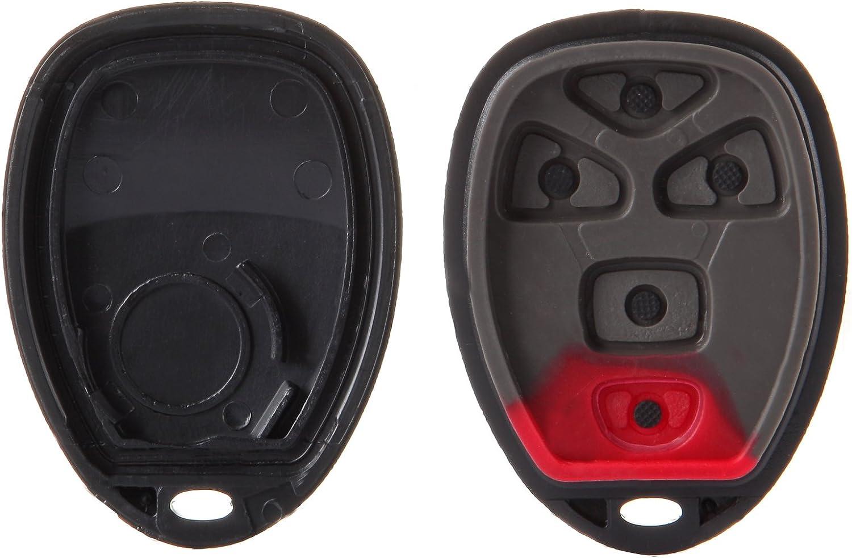 cciyu 1X Key Fob Keyless Entry Remote Fob Case 5 Buttons Replacement fits for 05 06 07 08 09 10 Pontiac G5 Chevrolet Malibu Buick Lacrosse KOBGT04A-B