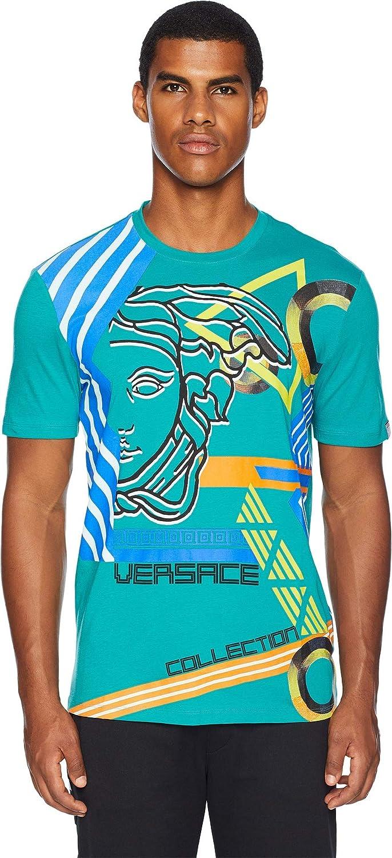 23bbbaf95 Amazon.com: Versace Collection Men's Modern Medusa Tee Turquoise Medium:  Clothing