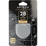 Arteza 28mm Quilting Rotary Cutter Replacement Blades, Fits Olfa & Fiskars (SKS-7, Pack of 12)