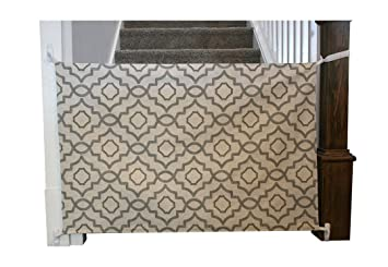 Lovely Cloth Baby Gate   Fabric Baby Gate For Stairs With Banister, Works Great As  A