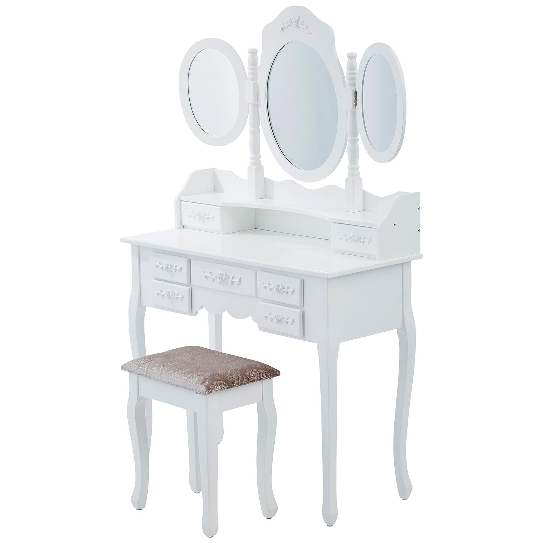 Legno 75x40x145 cm LEVIVO Edel Toeletta Bianco