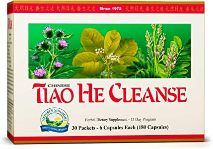 Nature's Sunshine Tiao He Herbal Cleanse Cleanse and Detox The Colon and Liver with Traditional Chinese Herbs 180 Capsules