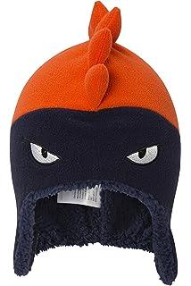 925814f45ce7 Mountain Warehouse Bonnet Garçon Hiver Enfant péruvien Junior bébé Animaux  Amusant et Rigolo Dino Orange Taille