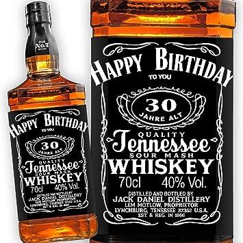 Jack Daniels Whiskey Etikett 30 Geburtstag Amazon De Kuche