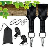Costzon Tree Swing Hanging Straps, Set of 2, Holds 4400 lbs, 10ft Extra Long Straps with Safe Lock Snap Hooks, Perfect for Tire, Saucer Swings, Hammocks, Easy Installation, Carry Bag Included