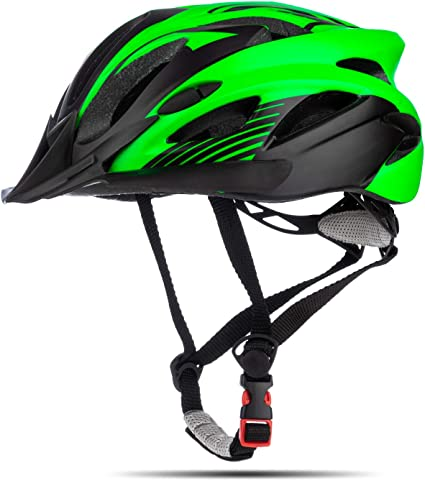 SUNRIMOON Adult Cycling Bike Helmet Lightweight Microshell Design Road Bike Helmet Bicycle Cycling Helmets Adjustable Size with Detachable Visor LED Safety Light for Women and Men