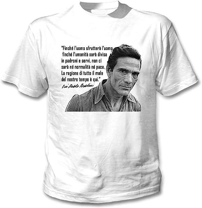 teesquare1st Pier Paolo Pasolini Finche L`uomo Camiseta Blanca ...