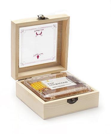 Amazon.com : Honey Land 100% Raw HoneyComb In Beautiful Wood Gift ...