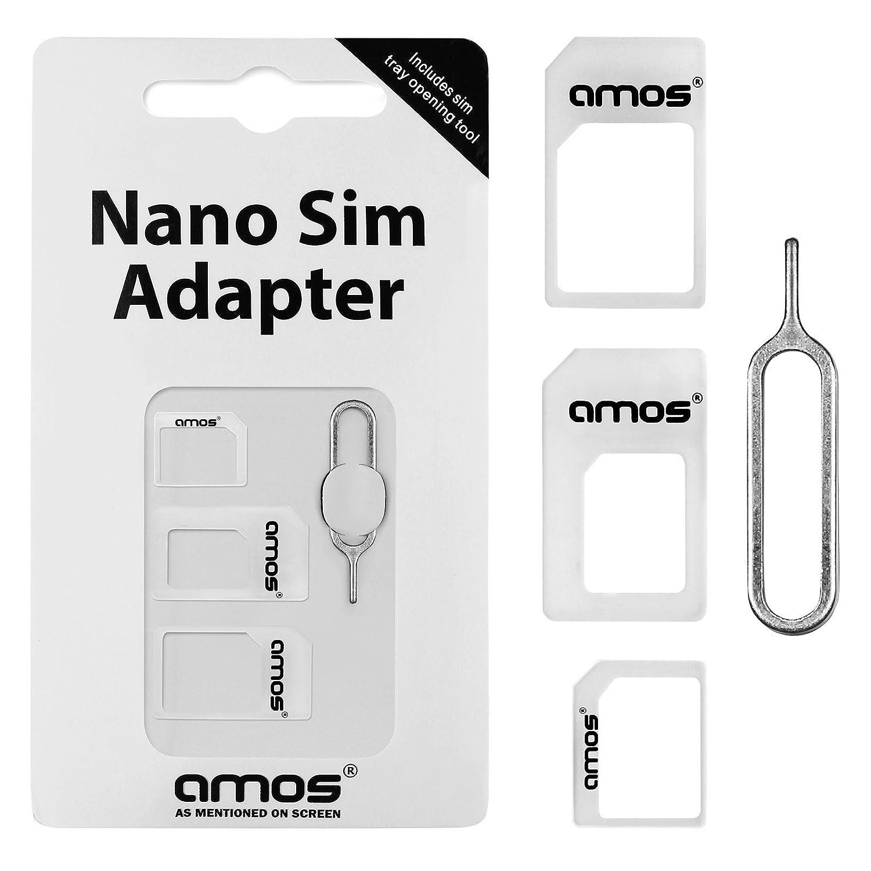 AMOS 4 en 1 Adaptador Convertidor de Tarjeta Nano SIM a ...