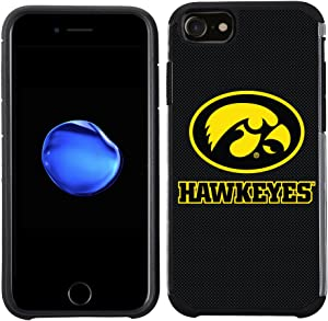 Prime Brands Group Textured Team Color Cell Phone Case for Apple iPhone 8/7/6S/6 - NCAA Licensed University of Iowa Hawkeyes