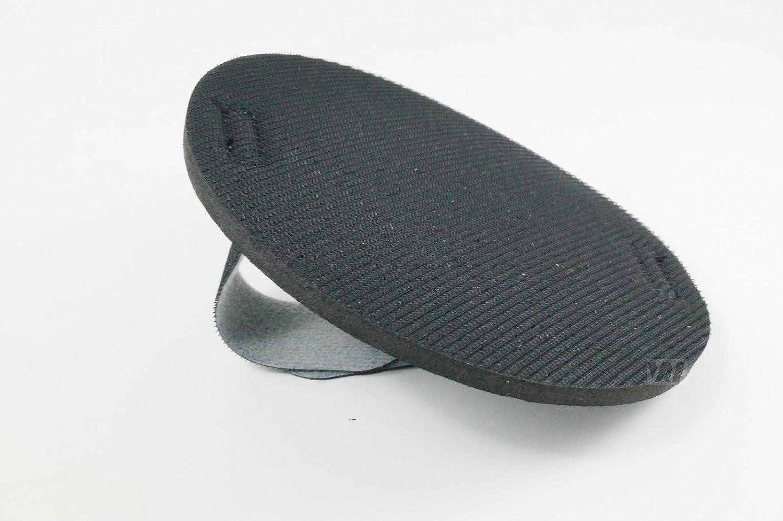 KA.EF. - d 125 mm - Handschleifteller mit Schlaufe - Klett Handschleifteller