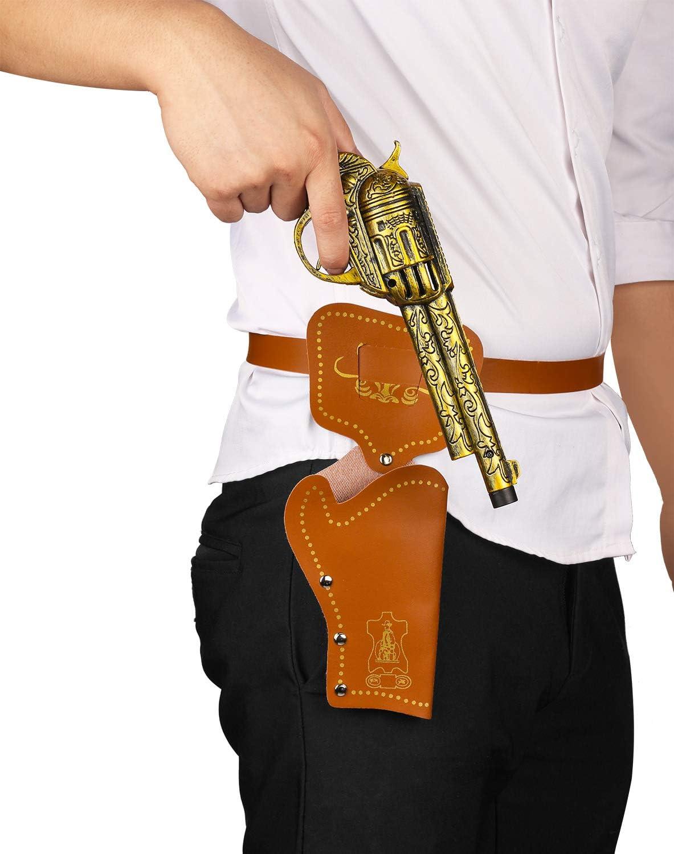 Juego de pistola de vaquero occidental Pistolera Cinturón Disfraz Accesorio Salvaje Oeste Rodeo