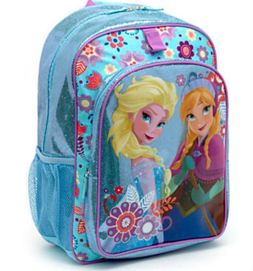 Disney Store Frozen Elsa Anna Glitter Sparkle Backpack School Bag