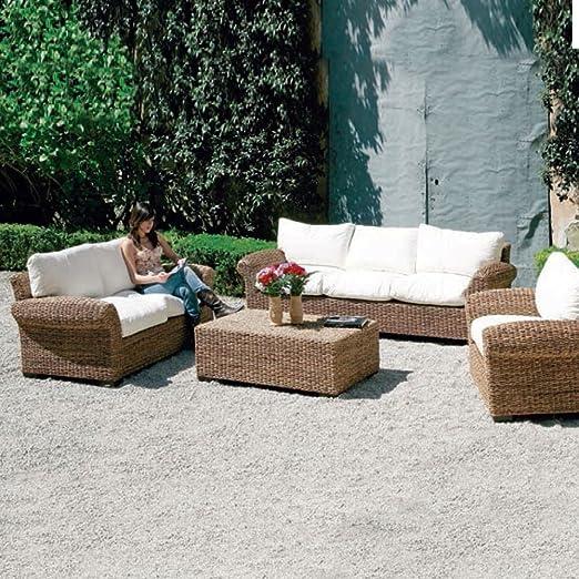 HOMEGARDEN - Sillón de Fibra Natural, Muebles jardín, para Exterior: Amazon.es: Hogar