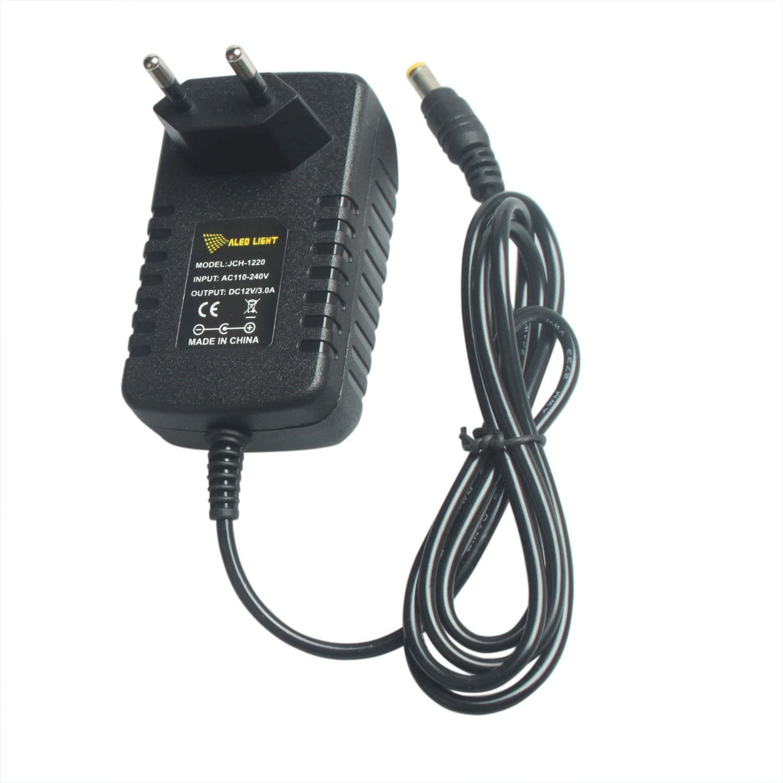 Adaptador de Tira LED RGB 12V 2A, ALED LIGHT Transformadores/ Fuente Alimentación 100-240V a DC 12V, Power Supply para Tira LED 3528/5050/5630, 12V, 24W Máximo Transformadores de Electricidad