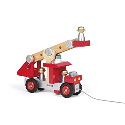 Janod DIY Fire Truck: Toys & Games